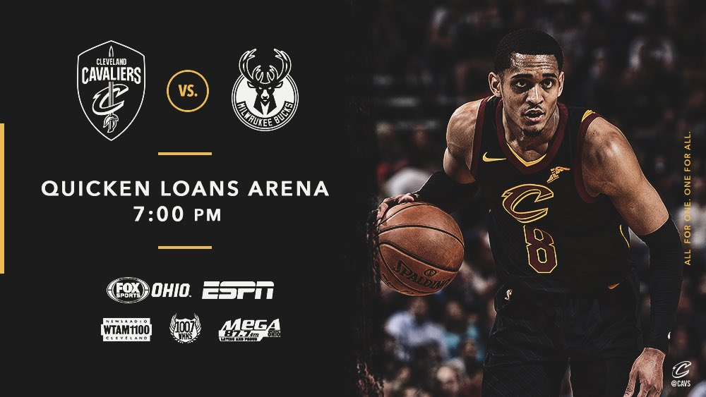 Back home in The Land!  #CavsBucks PREVIEW: https://t.co/pAH1rgwpEq   #AllForOne