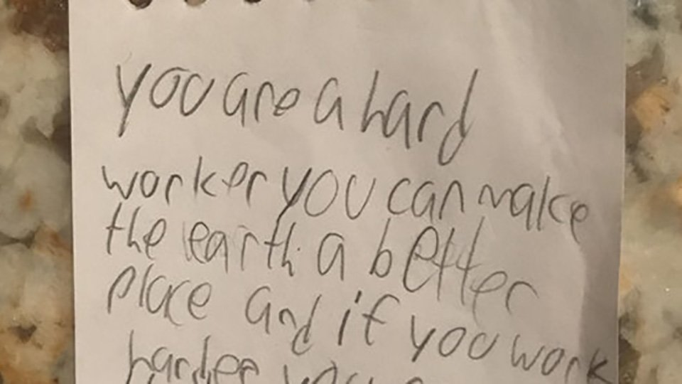 Kid's heartwarming note to his dad has a spectacularly no-nonsense twist ending https://t.co/FwcaLSq7Ra https://t.co/mVUtDiy3iA