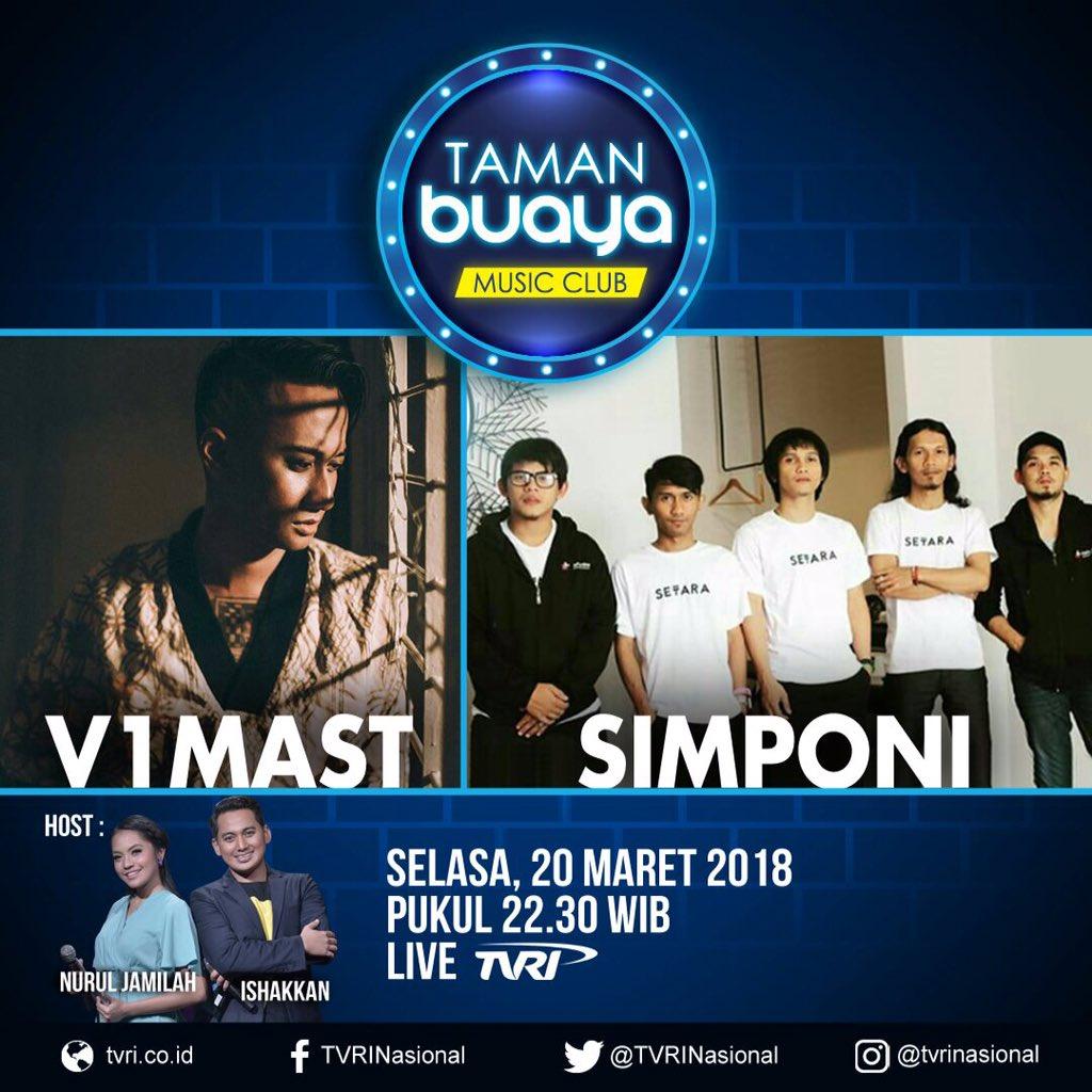 Besok malam kami akan tampil di Taman Buaya Music Club @TVRINasional bersama @V1MAST. Stay tune yah! https://t.co/SNnfZSK1qJ