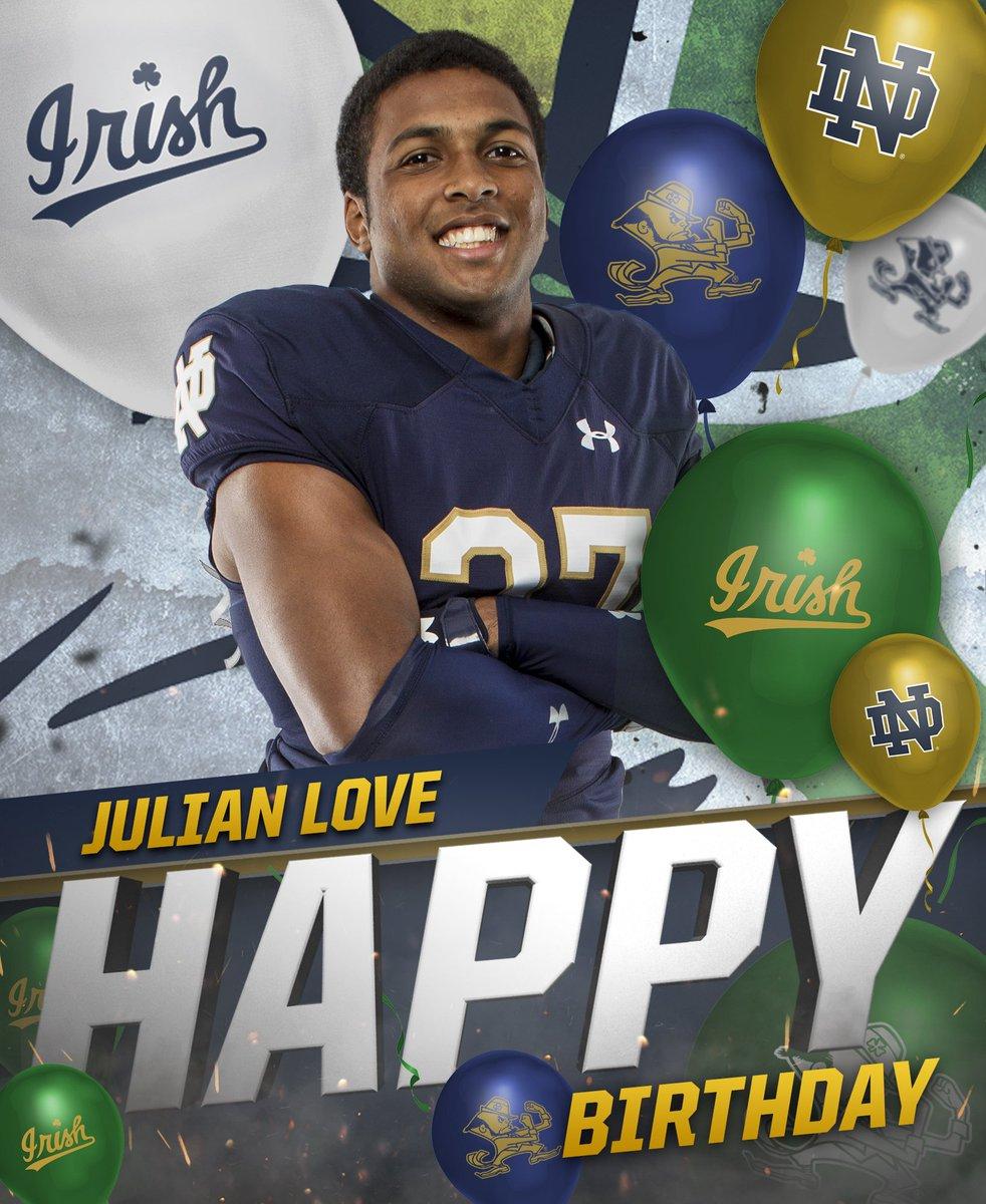Happy birthday, @julianlove27! 🎉 #GoIrish ☘