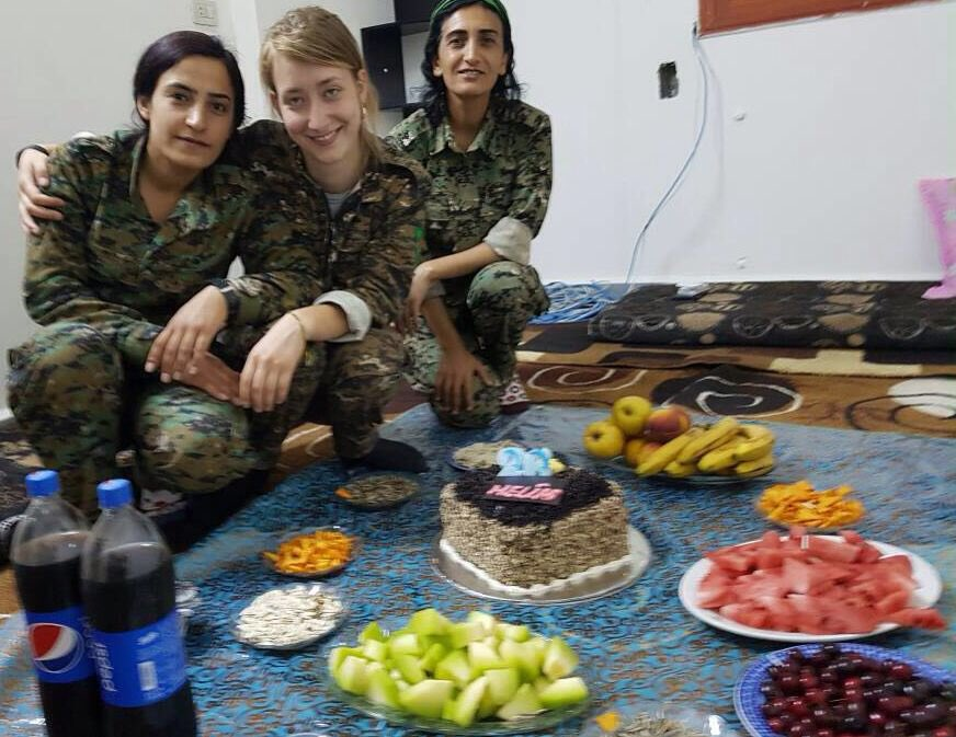 Anna Campbell was a courageous British feminist, anti-fascist, anti-capitalist soldier who fought with the Kurds against ISIS.  She was killed during an assault by Turkey's jihadi-linked military. Our government is arming Turkey, and now a UK citizen has died. This is scandalous.