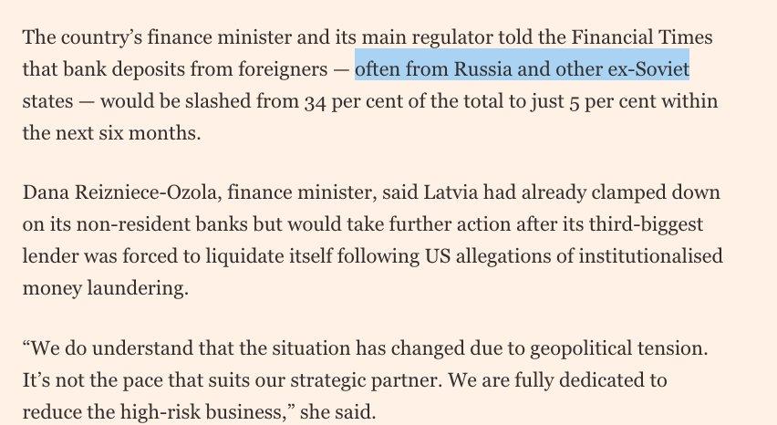 Auch Deutschland darf nicht länger Geldwaschmaschine für Putins Freunde sein! Lettland verbannt schmutziges Kapital aus seinen Banken, um gegen Geldwäsche auch aus #Russland vorzugehen. Gut so - Deutschland sollte folgen! #Russlandwahlwahl