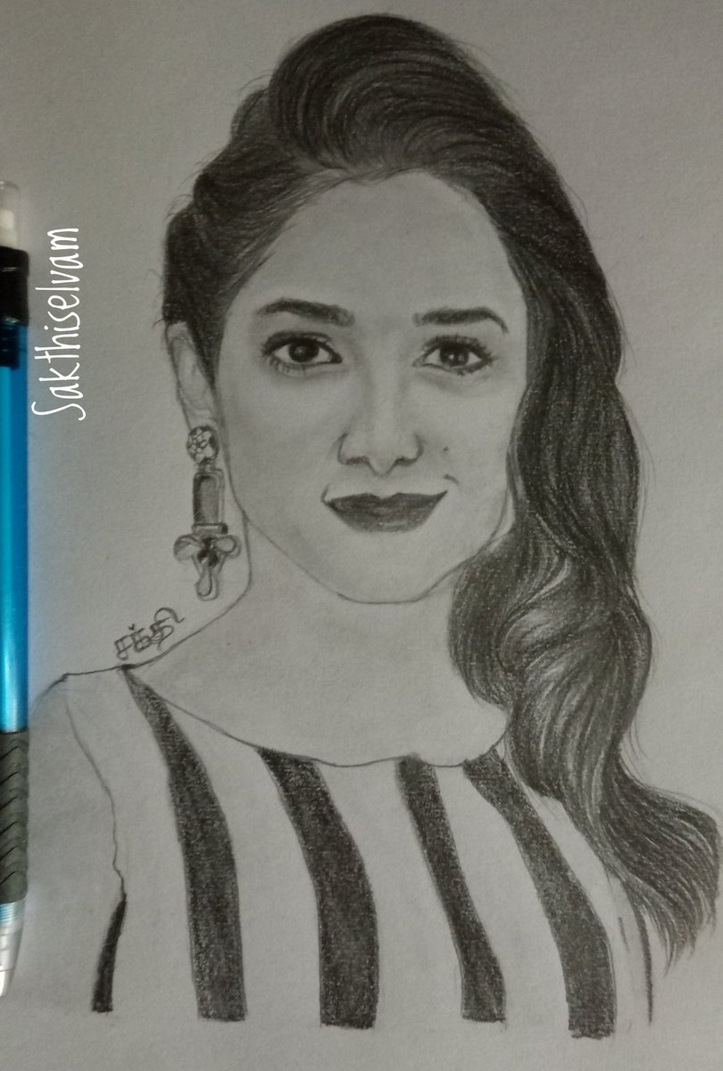 My new Drawing of beautiful Milky White #TamannaahBhatia ..@tamannaahspeaks @TamannaahBFan @TamannaahFans #TamannaahBhatia #tammanabhatiadrawing #tamannaahbhatiafc #tamannaahbatiafans @tamannaahspeakspic.twitter.com/s3pGeYOghf