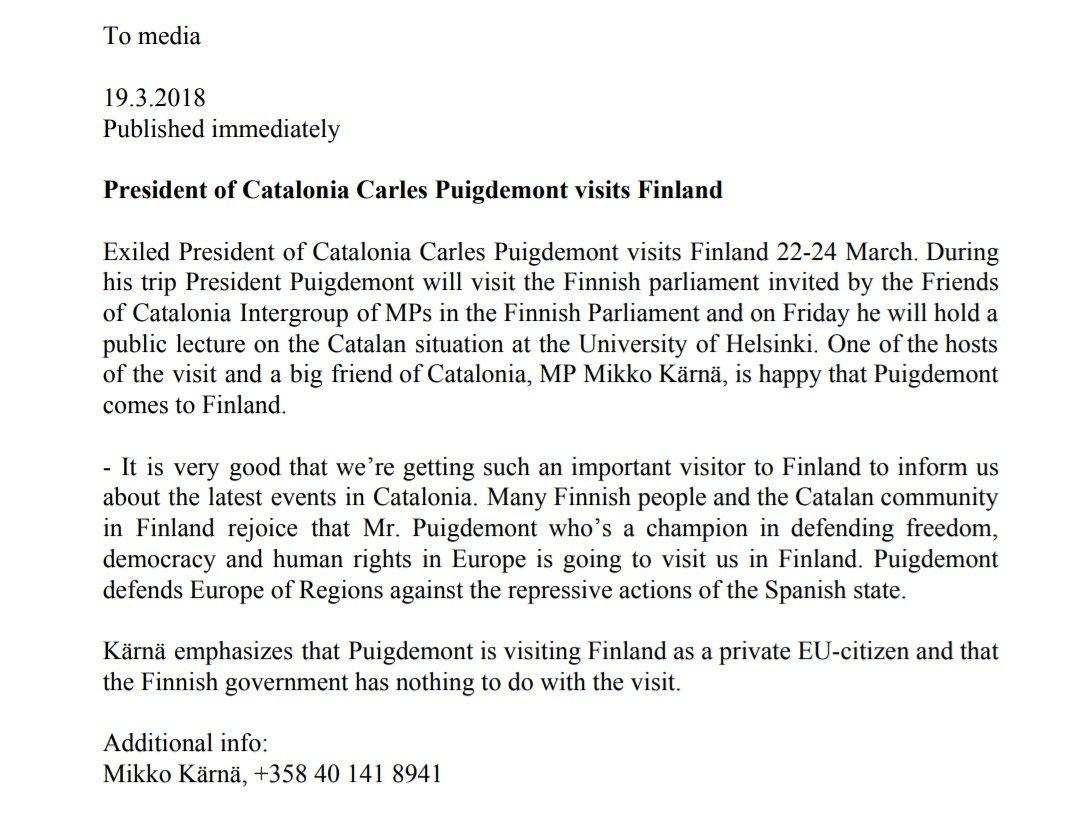Welcome to Finland Mr. President @KRLS....