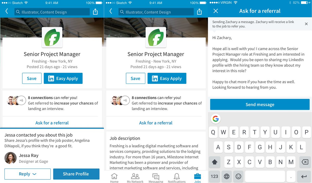 """mspoweruser on twitter: """"linkedin introduces ask for a referral"""