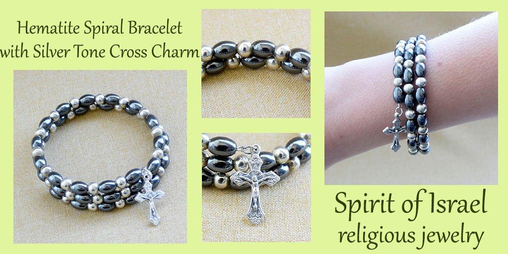 Hematite spiral bracelet  #gemstones #br...
