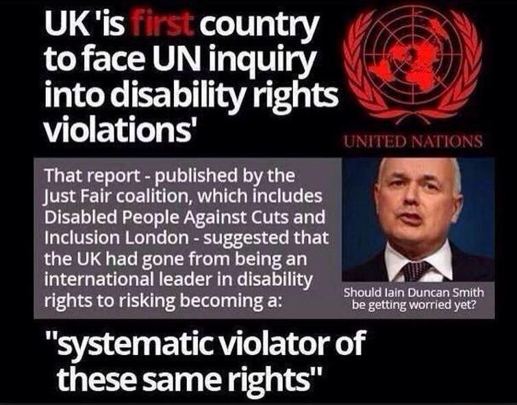 @NickyMorgan01 @Anna_Soubry Really? It's not @johnmcdonnellMP facing inquiry after inquiry for violating #DisabilityRights its your #IDS who you supported in 8yrs of RELENTLESS attacks on #Disabled @LBC @SkyNews @BBCNews #c4news #skypapers @BBCr4today #bbcdp @itvnews #newsnight #bbcpapers @UKLabour #Pmqs