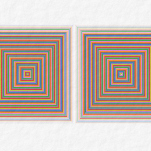 optical illusion focus on one ➤ Edit and animate it on... https://t.co/CUxtH9XjLG #abstract #geometry #art #proceduralart #iterograph