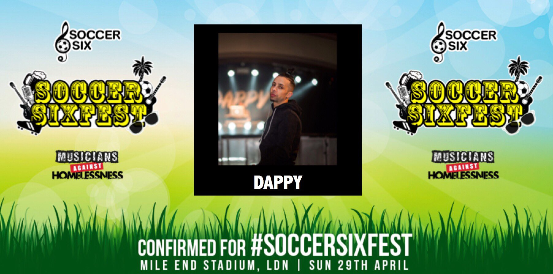ATTN: I am playing @SoccerSix at Mile End Stadium, London on SUN 29TH APRIL! Tickets:https://t.co/orOCzD5n5a  RT! https://t.co/4Pp9L1uhWg