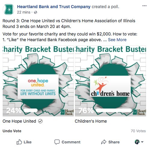 test Twitter Media - We've made it to the 3rd round of the Charity Bracket Buster and we need YOUR help to make it to Round 4! Click OHU's logo below to vote. https://t.co/lgtMpr9z1H https://t.co/VxxeKkVXv4