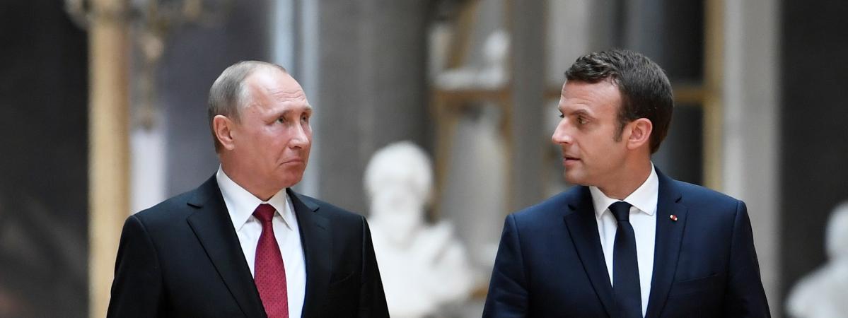 Emmanuel Macron adresse à Vladimir Poutine 'ses vœux de succès pour la modernisation' de la Russie https://t.co/pq6WZUY7br