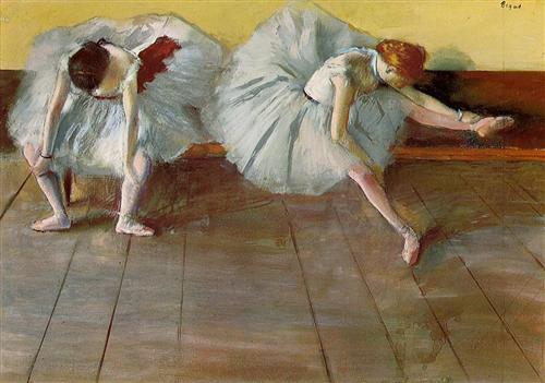 'Две балерины'. Эдгар Дега. 1879 г.