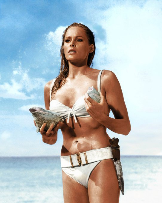 Happy birthday to Ursula Andress. Photo from Dr. No, 1962.