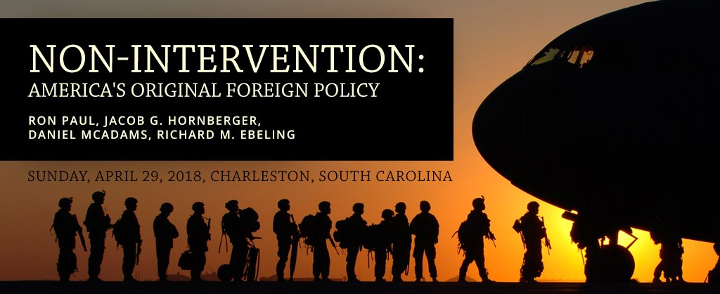 Join us in South Carolina next month! Ron Paul and Jacob Hornberger to Speak at Foreign Policy Conference in Charleston, South Carolina https://t.co/v3T5l59lij