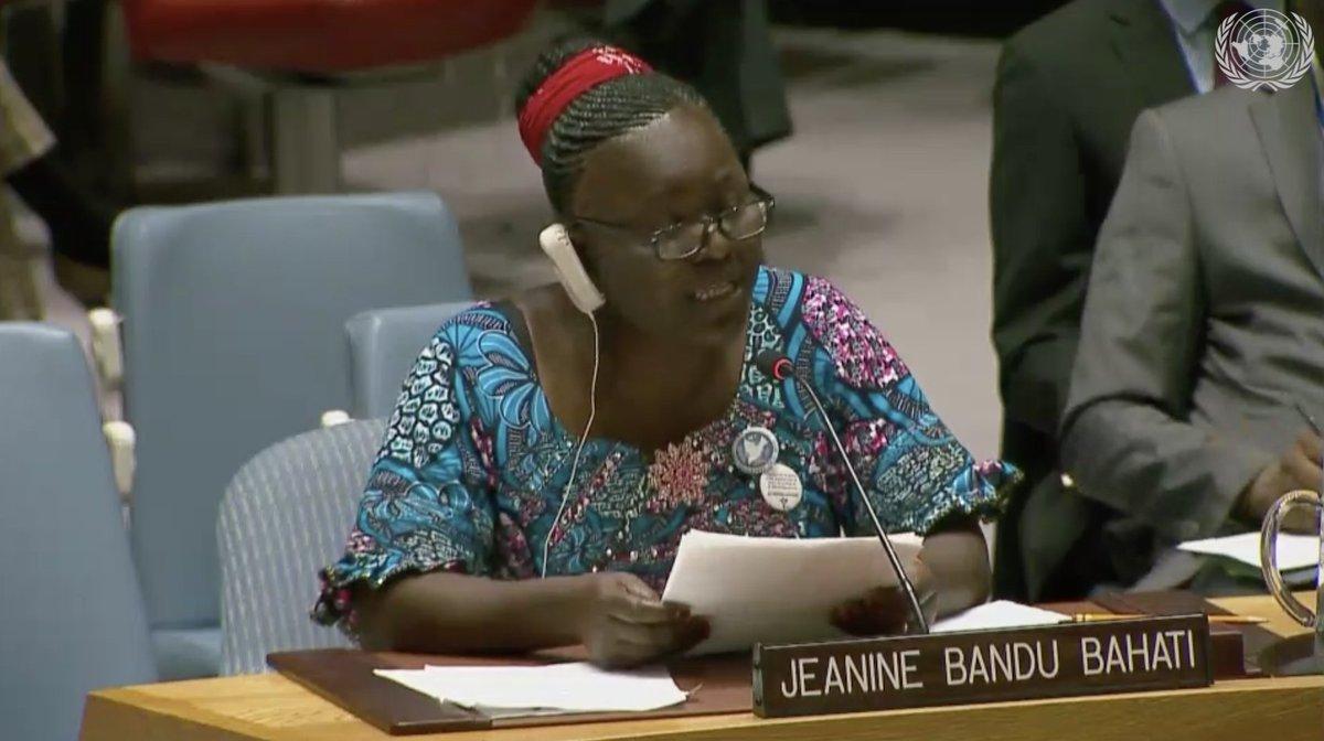 'Aujourd'hui, je parle en tant que femme rurale, femme déplacée, femme affectée par les conflits armés.'  Jeanine Bandu Bahati offre un témoignage au Conseil et alerte sur la catastrophe humanitaire en #RDC