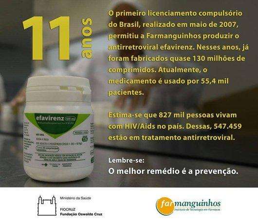 #SUS celebra 11 anos de produção pública em Farmanguinhos @fiocruz do medicamento #efavirenz, usado no tratamento contra o #HIV https://t.co/BH255nLgjl