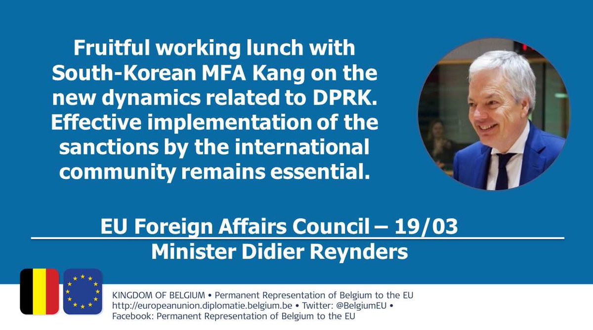 Fruitful working lunch between the EU Ministers of Foreign Affairs and Korean MFA Kang #FAC #DRPK