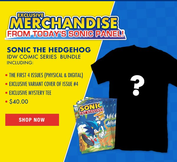 Idw Publishing On Twitter Limited Edition Sonic The Hedgehog Idw Comic Series Bundle Includes 1 4 Of Idw S New Sonic Comic Book Series Plus An Exclusive Variant Cover Of Issue 4 An Exclusive Mystery