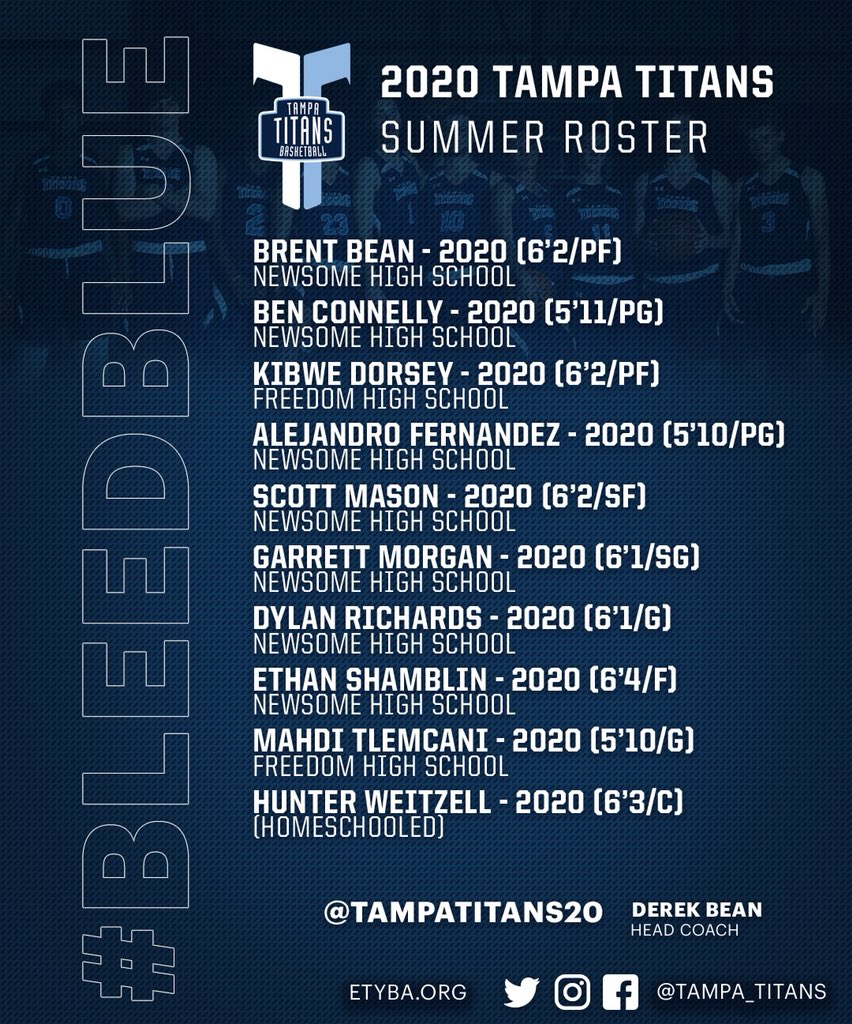 Titans Schedule 2020.Tampa Titans 2020 On Twitter Your 2020 Tampa Titans Roster
