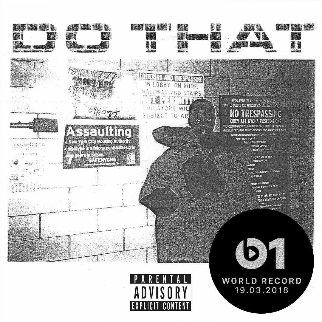THIS IS ONE!!!! Today's #WorldRecord from @sheckwes 'Do That' 👉🏼📲 LISTEN apple.co/_SheckWes