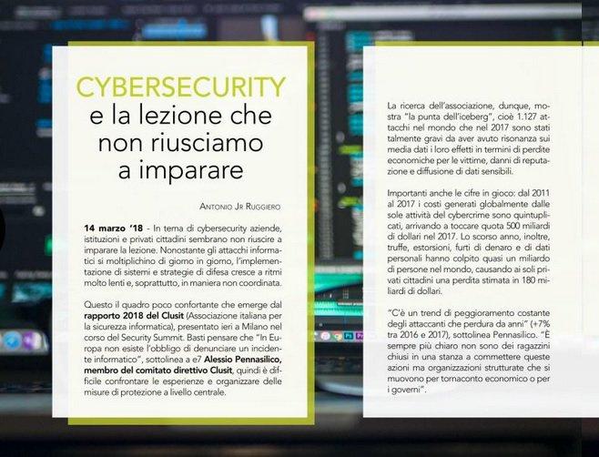 #Cibersecurity e la lezione che non riusciamo a imparare. A pg 20 del #14marzo #Clusit http://bit.ly/2pfFsGh  - Ukustom
