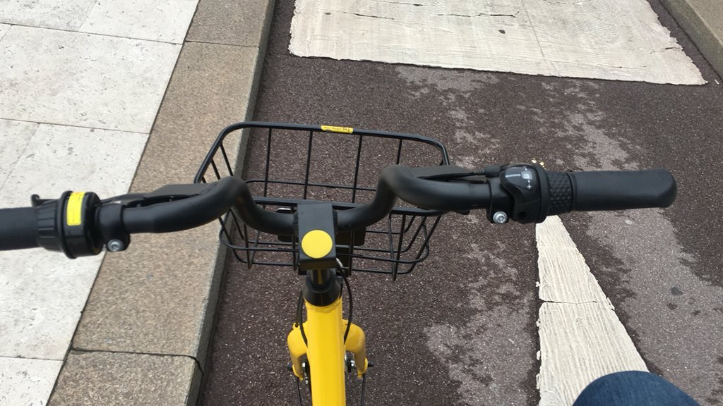 Oggi per la prima volta ho provato @ofo_bicycle, il servizio di Bike Sharing presente a Milano. La prima volta é gratis, #sapevatelo !  - Ukustom