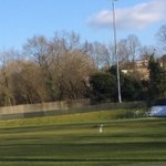 At 4pm today northwood fc pitch looking clear for tomorrow's match v London Tigers 7-45 ko