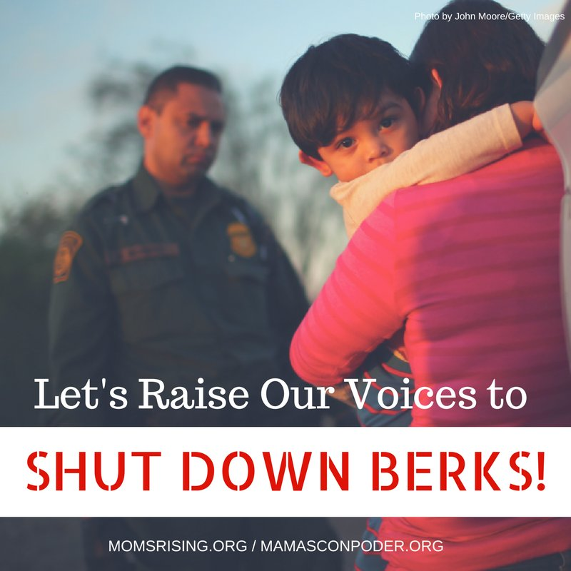 Join us to raise our voices as parents from around the country calling on Pennsylvania Governor Wolf to Shut Down Berks!  TAKE ACTION: https://t.co/3EZQ0YpXHE #ShutDownBerks #HereToStay #Pennsylvania