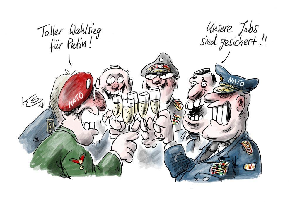 карикатура - НАТО, что бы мы делали без Путина