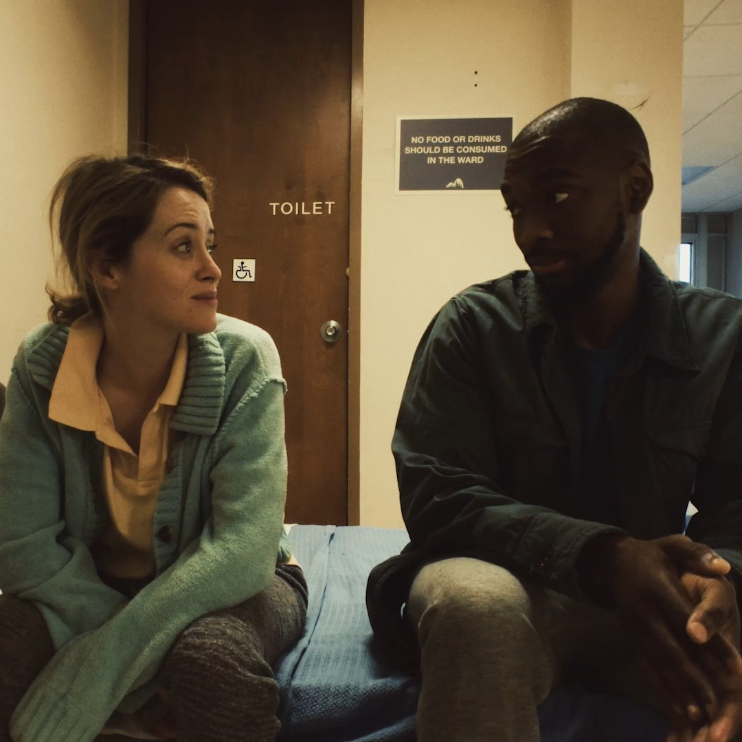 Be careful who you trust. Claire Foy and @JayPharoah star in #Unsane, in theaters this Friday.