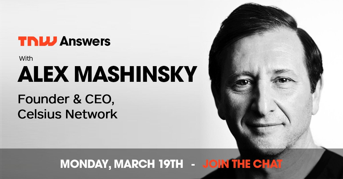 Alex @Mashinsky is going live now 💻 📣 Join us and drop a question👇 https://t.co/OeaTB7L9ta
