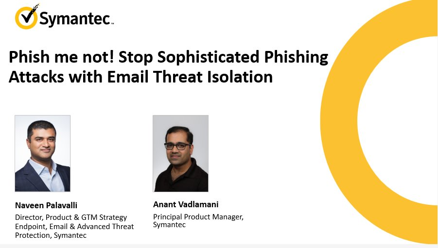 Join this webinar tomorrow to learn how to prevent email #phishing attacks: https://t.co/L5yJHw7p3M