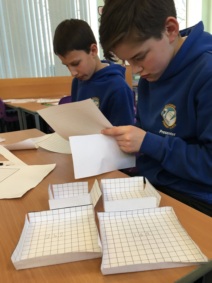 Using the nrich problem 'Making Boxes' today in year6 SATs after school booster club. A great activity for investigating volume.