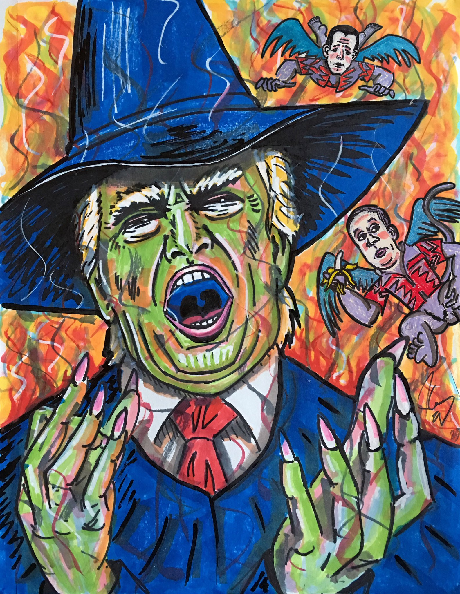 "If you liked my last cartoon you may also enjoy...  ""THE WICKED WITCH OF THE WEST WING AND PUTIN'S FLYING MONKEYS"" https://t.co/slBG7j1s8d"