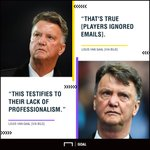 Louis van Gaal claims Man Utd players ignored his emails during his time at the club. 😮