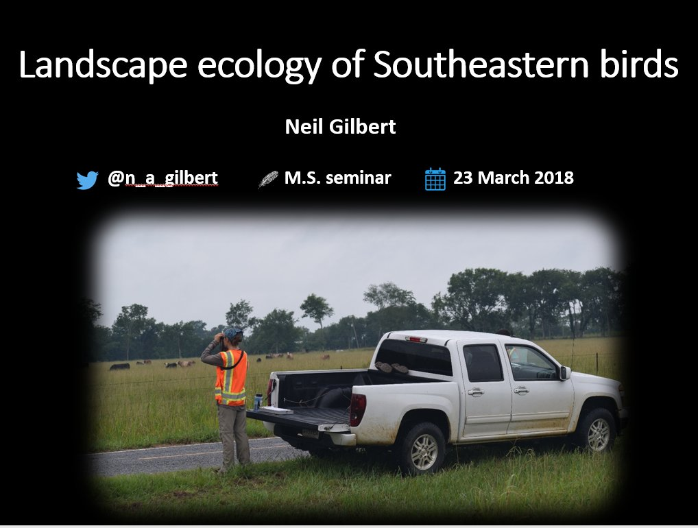 Hey! On Friday at 12PM CST I will be presenting during UAs biology seminar and will ***attempt*** to live-stream on Periscope. My talk will be an all-too-brief 15-min introduction to and summary of my research. I would love to have you join! #scicomm #ecology #ornithology