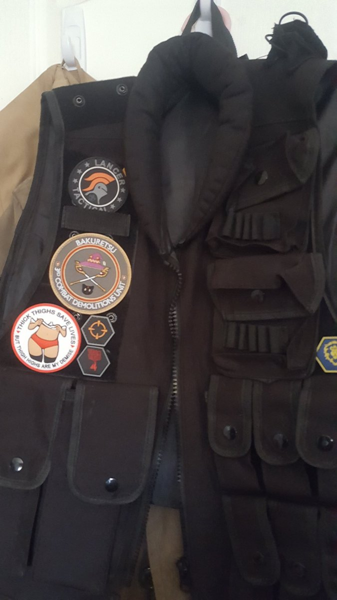 Yulelord Arron On Twitter Finally Got My Last Patch For My Tatical Vest Woodpatchs Thick Thighs Save Lives Fits Nicely Next To My Wgw Bakuretsu Patch Https T Co Kvm0kxwzuc It's important to not only understand this but to live this! tatical vest woodpatchs thick thighs