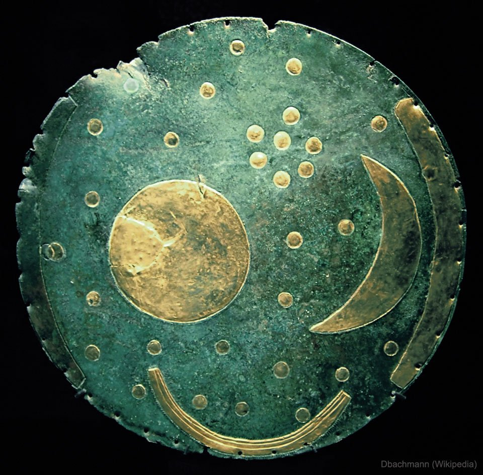 The Nebra Sky Disk: Some consider it the oldest known illustration of the night sky. The purpose of the disk, however, remains unknown. Can you solve the mystery???