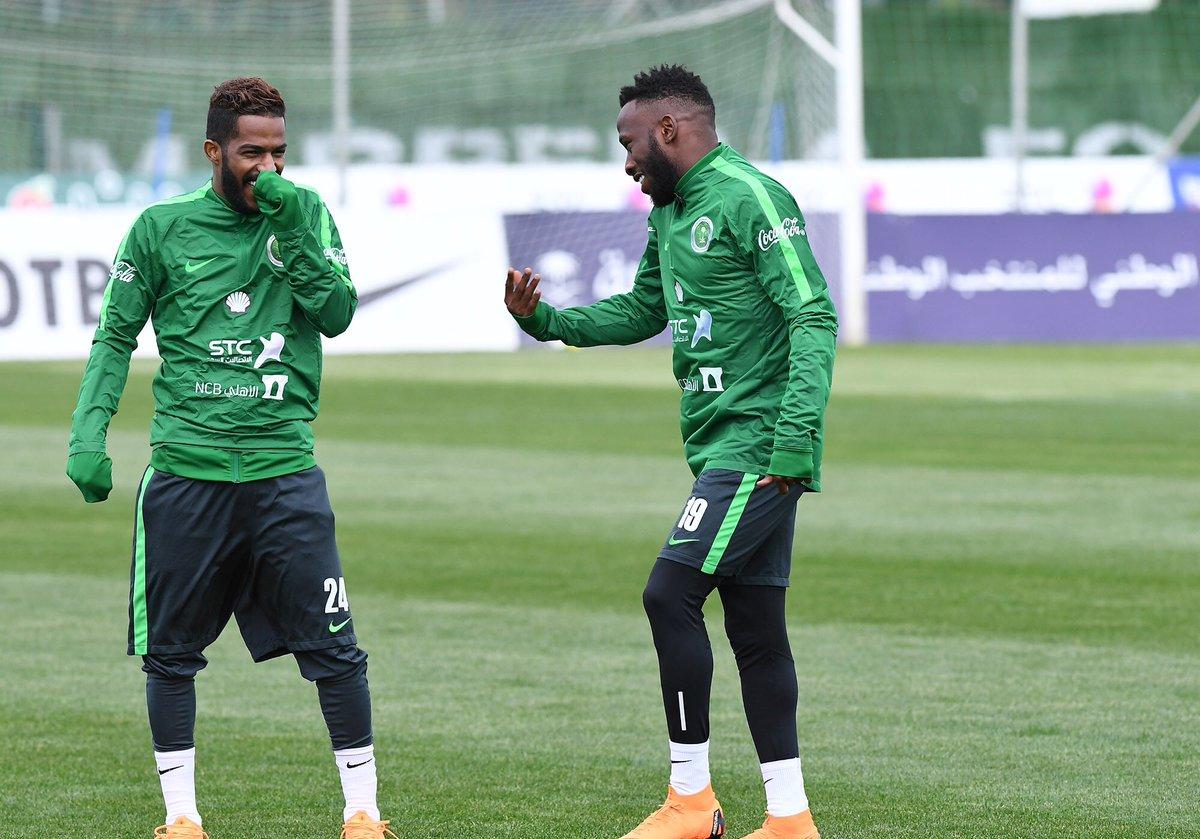 من تدريبات المنتخب السعودي ، ضمن معسكره...