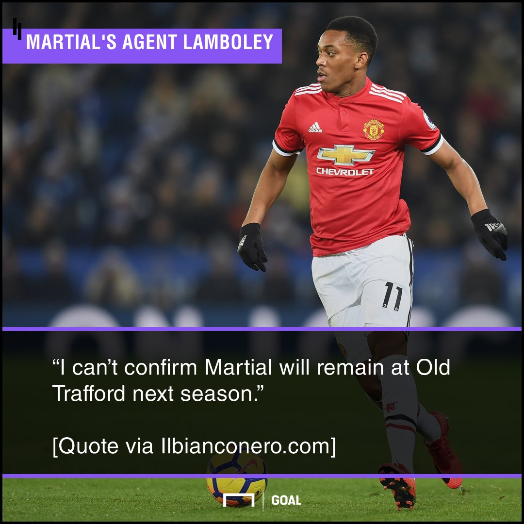 """Anthony Martials agent Philippe Lamboley admits he """"cant confirm"""" that the Frenchman will be staying at Man Utd amid Juventus links. 👀"""