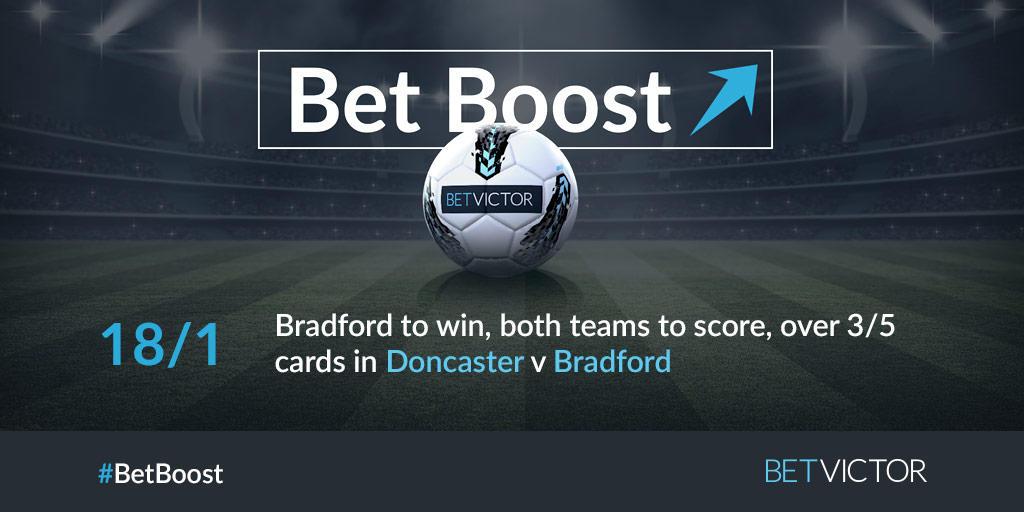 Doncaster v Bradford is tonight's big game.   No matter who you're backing, we've got a big #BetBoost for you.  Find them both here: https://t.co/4HFldhHzae