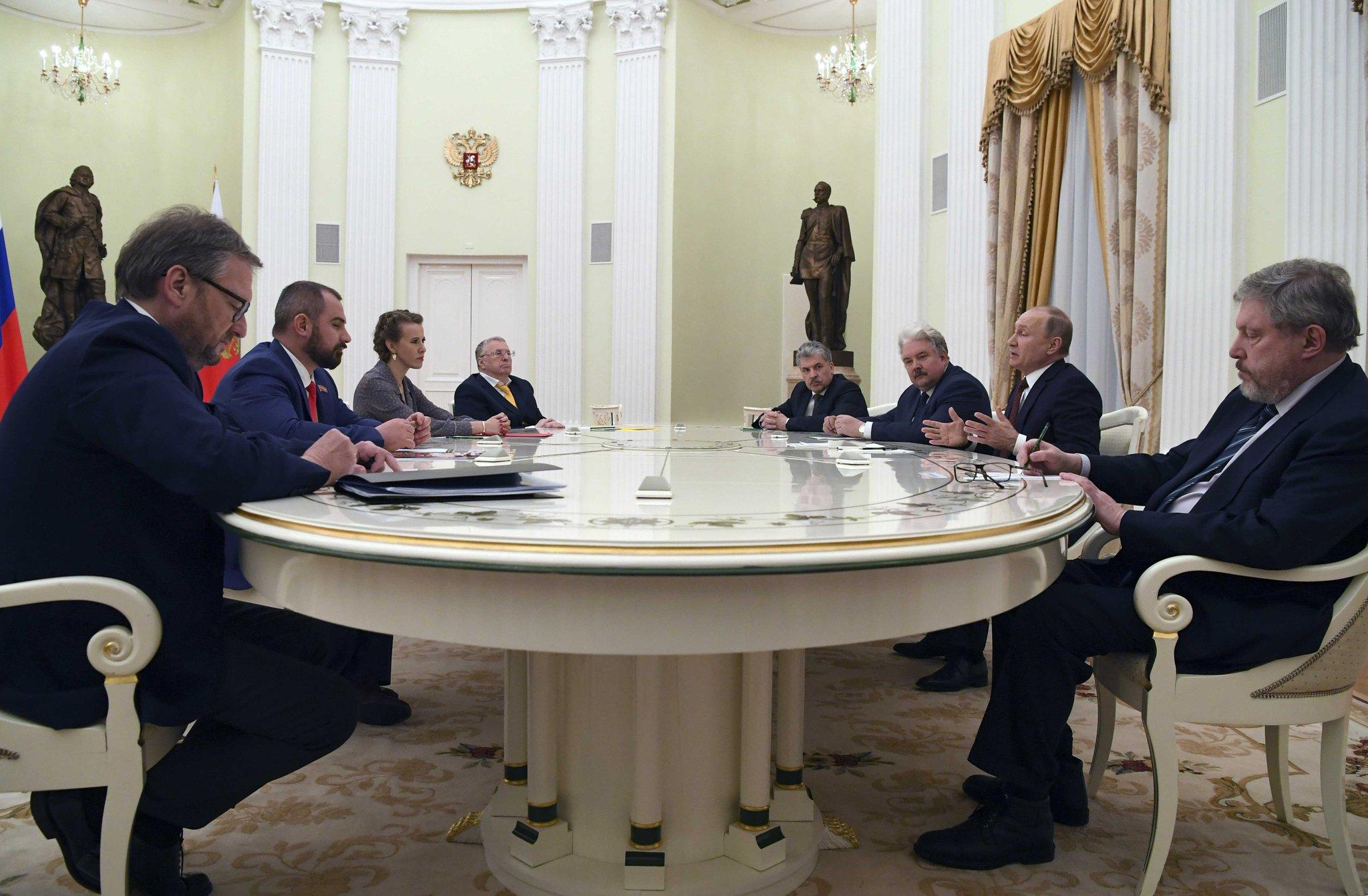 Встреча Владимира Путина с кандидатами в президенты фото