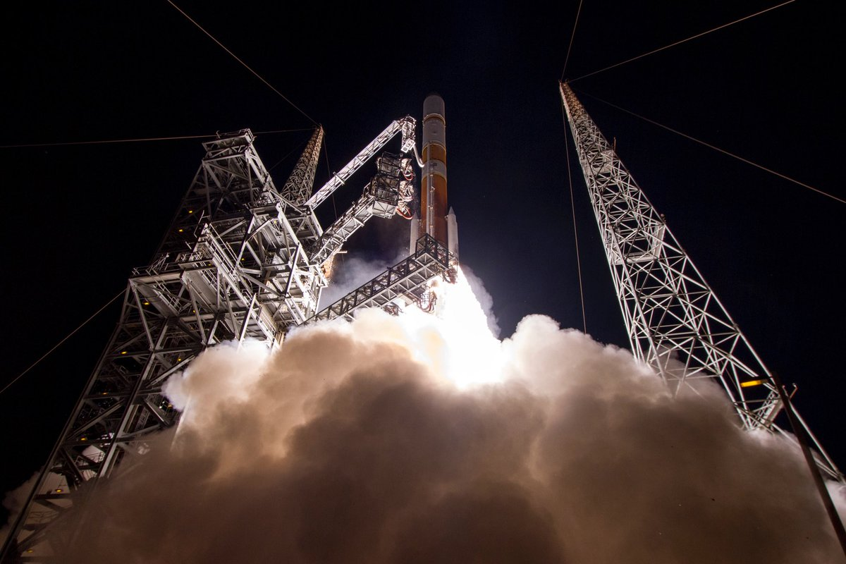 On March 18, 2017, ULA's #DeltaIV rocket launched #WGS9 for the @usairforce, WGS provides worldwide flexible, high data rate and long haul communications for the military, the White House Communication Agency, the US State Department, int'l partners, and others. #missionmonday