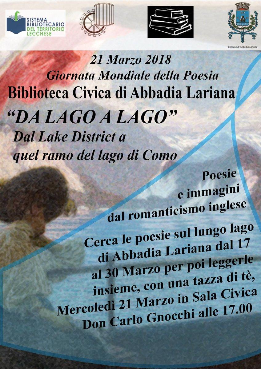 In arrivo #Primavera e la #GiornataMondialedellaPoesia! In un virtuale omaggio al nostro #lago, vi aspettiamo in #Biblioteca il 21/03 per delle letture e una tazza di te! Un\