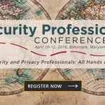 The Security Professionals Conference is the premier forum for connecting with higher education information security and privacy professionals. Have you registered yet? https://t.co/4VHAU7Qzxj #Security18 #HigherEd #InfoSec