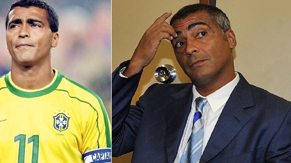 L'ex stella del calcio mondiale Romario...