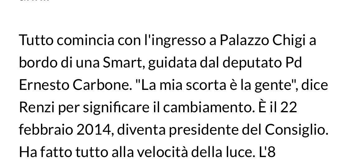 """@AlessiaMorani """"La mia scorta è la gente"""" è una frase che disse #Renzi  il 22 febbraio 2014 ripresa anche da #Repubblica (foto sotto) e da vari servizi Tv.  Quello che riproduce lei in questo tweet è la vigilanza esterna del Senato accanto a #Dimaio  - Ukustom"""