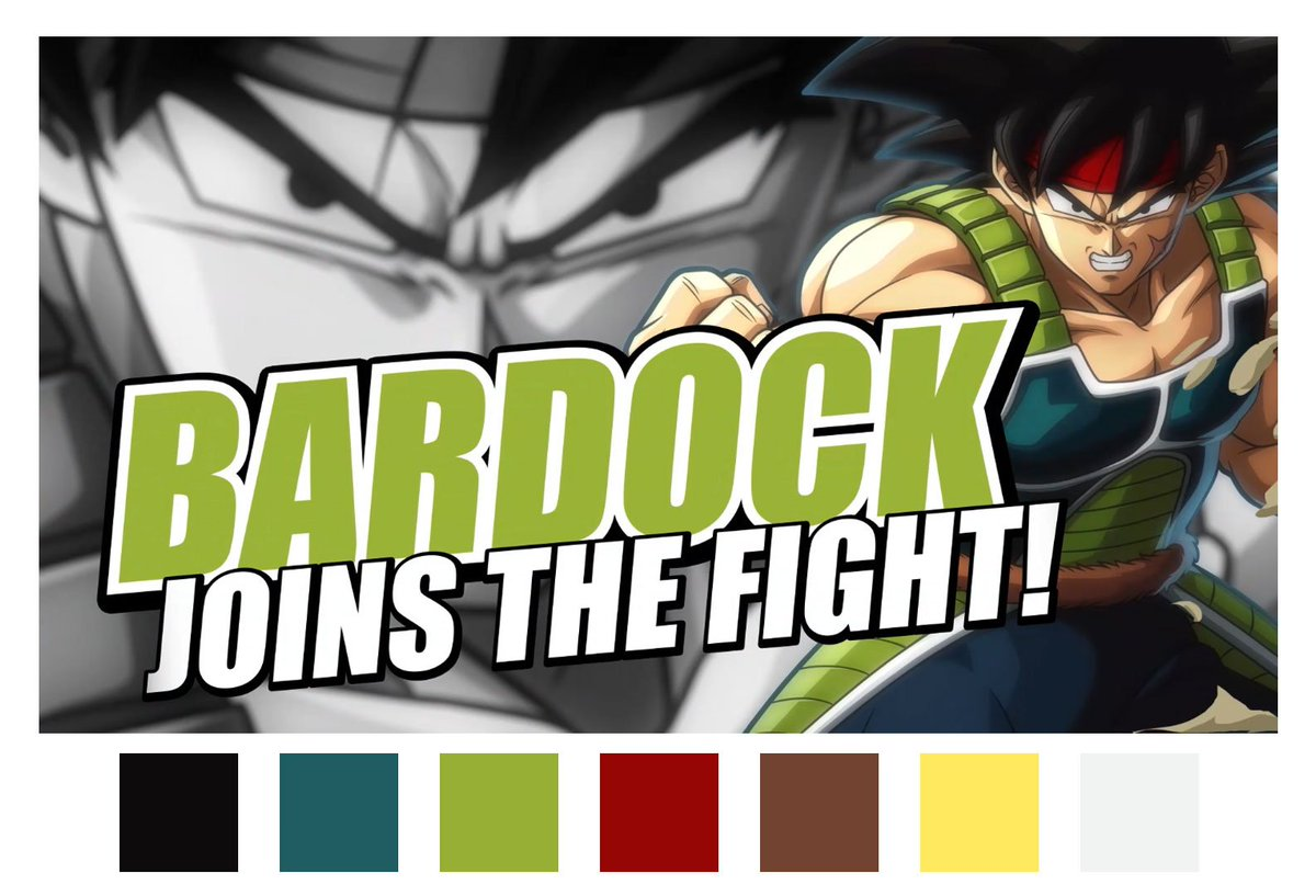 Just want to take a moment to show some of the colors used in Bardock's trailer. 😏 #DRAGONBALLFIGHTERZ