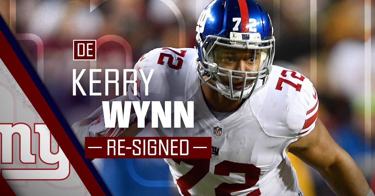 Welcome Back! The #NYGiants have re-sign...