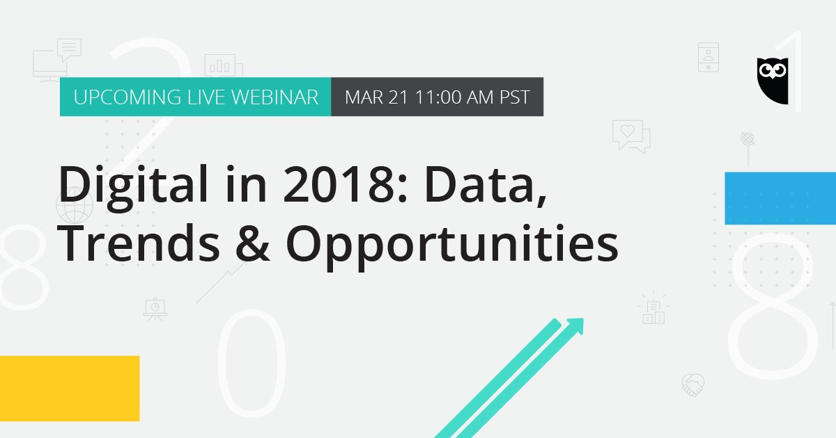 Learn how your business can take advantage of the major trends in digital and social this year: ow.ly/HSwx30iZOxS Sign up for our free webinar on March 21